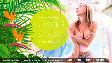 Summer solo VR Porn video.