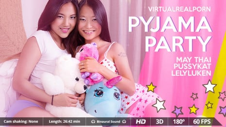 Pyjama party VR Porn video.