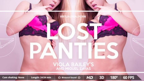 Lost panties VR Porn video.