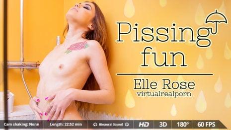 Pissing fun VR Porn video.