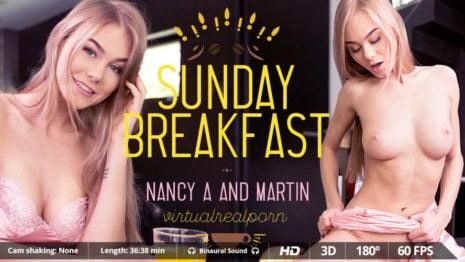 Sunday breakfast VR Porn video.
