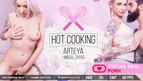 Hot cooking VR Porn video.
