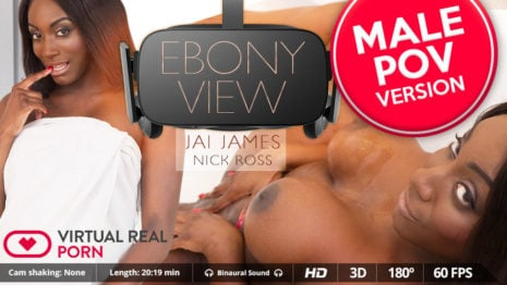 Ebony view (Male POV) VR Porn video.