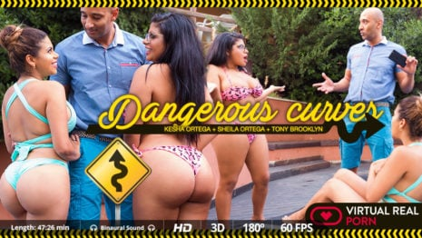 Dangerous curves VR Porn video.
