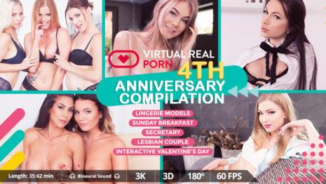 VirtualRealPorn 4th Anniversary compilation VR Porn video.