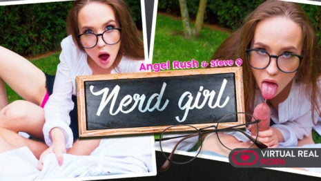 Nerd girl VR Porn video.