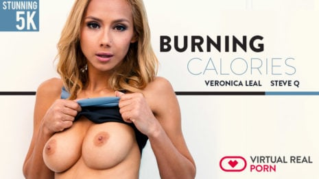 Burning calories VR Porn video.