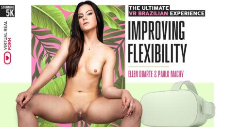 Improving flexibility VR Porn video.