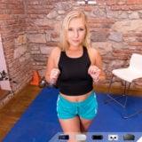 Pierced blonde VR Porn